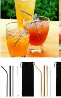 5pcs metal straw pack