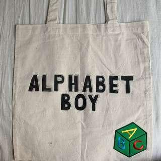 🚚 Hand Painted Tote Bags - Alphabet Boy