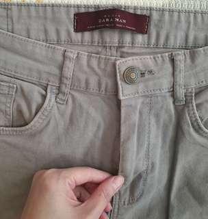 Zara Man Basic Abu celana panjang