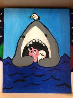 小童畫作 —— 鯊魚