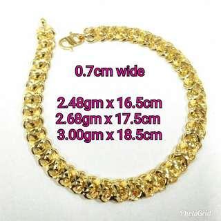 916 Gold Adult Bracelet