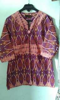 Baju batik ungu