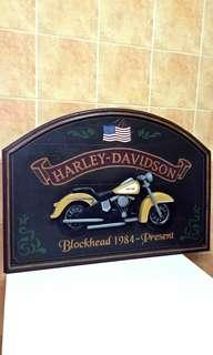Vintage Harley Davidson Pub Sign ( Blockhead 1984 - Present ) Hand Painted & Hand Made In USA, total of 4 different design, for Pub or Home Decoration, This item is very rare.