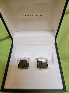 Dunhill 925 silver cuff links mosaic hair crystal.Very rare !