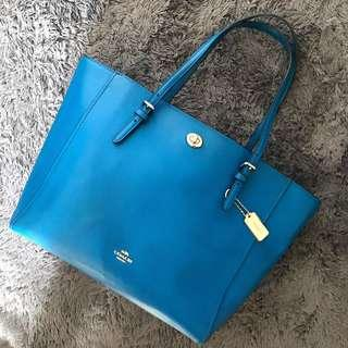 Coach Tote Turnlock Grossgrain Bag
