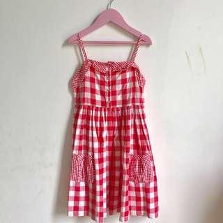 Checked pattern dress by Mothercare