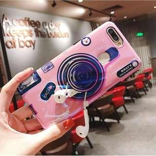 Camera Pink Case with Popsocket for HUAWEI NOVA 3i