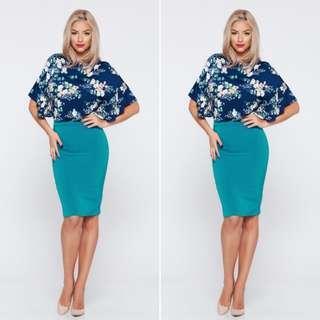 BNWT Turquoise Pencil Skirt