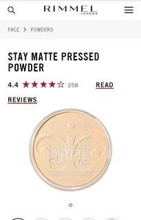 Repriced!!! 250 Rimmel London Stay Matte Powder