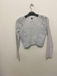 Hnm H&M Divided Crop Top