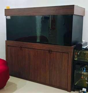 🚚 Fish tank with cabinet + Sump tank