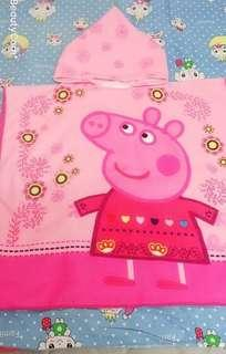🚚 佩佩豬沐巾,抱巾兩用