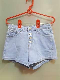 🚚 TEMT Denim High Waist Shorts (Size 8)