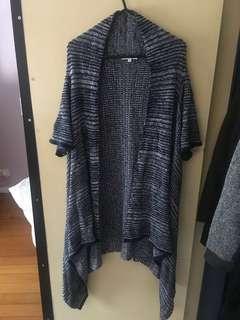 Long navy knit sweater