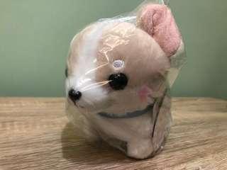 全新日本直送 可愛白啡小狗bb 毛公仔