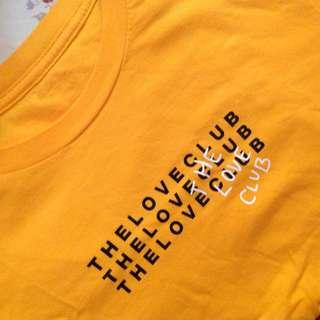 The Love Club Yellow Graphic shirt