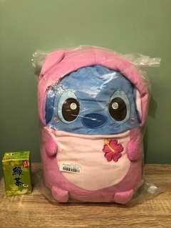 全新日本直送  Disney Stitch   史迪仔bb 粉紅裝 毛公仔