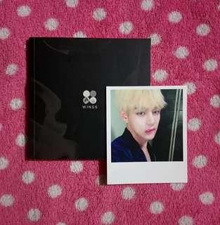 BTS WINGS I version Album with V Photocard