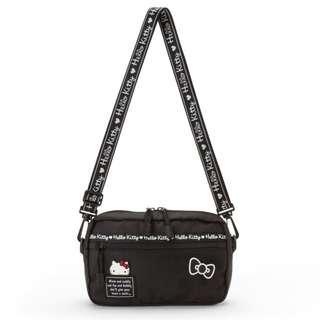 50c7cc93e Japan Sanrio Hello Kitty Sasoche Bag (Logo Tape) Black