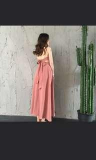 Backless bow tie Medi Dress