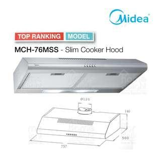 Midea MCH-76MSS Stainless Steel Cooker Hood (76cm)PROMOTION NOW