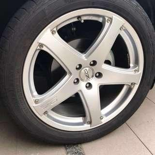 OZ rims 20 inch with tyres
