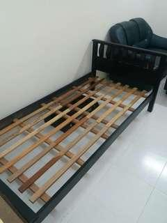 Wooden Single Bed Frame, Katil single