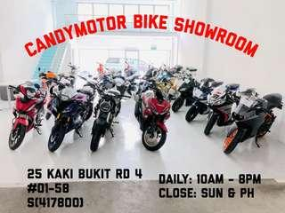 Candymotor bike showroom