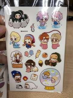 EXO 團隊貼紙 一張