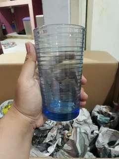 gelas beling biru