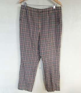 Light brown Multi-colored checkered trouser Size 30-32