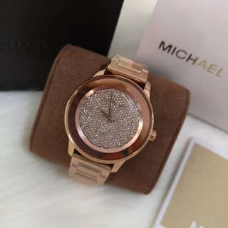 4b97fb9b78a69 ON HAND  Authentic Michael Kors Rose Gold Kinley Gold-tone Stainless Steel  Three Hand