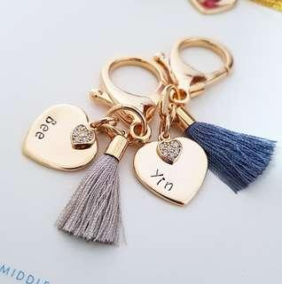 Hook Tassel Bag Charm Keychain | Personalised Custom Valentine's Day gift