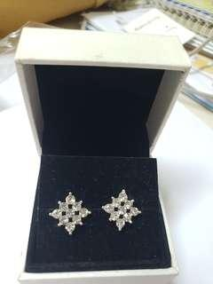 925 Silver diamond earrings 純銀閃石耳環 no box