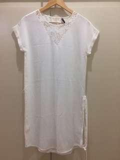 White dress lacey design