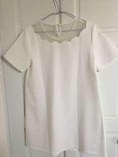 🚚 pazzo 白色洋裝