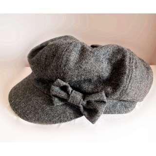 蝴蝶結絨帽 (灰色) #sellmar19