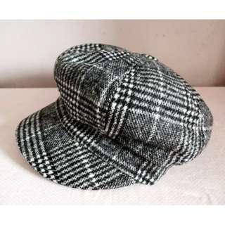 格仔絨帽 (黑色) #sellmar19