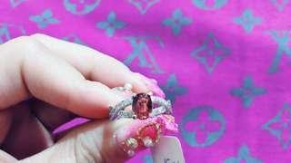 【輕珠寶】紅碧璽 訂製戒指