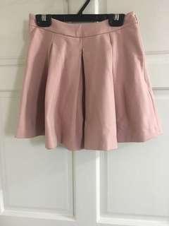 🚚 GENQUO彈性羅馬布打褶短裙