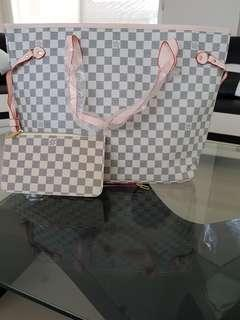 LV Neverful Bag with pouch