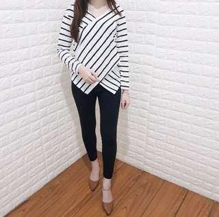 STRIPE WRAP TOP NEW