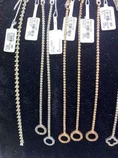 18k tennis bracelets