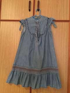 Zara kids denim dress