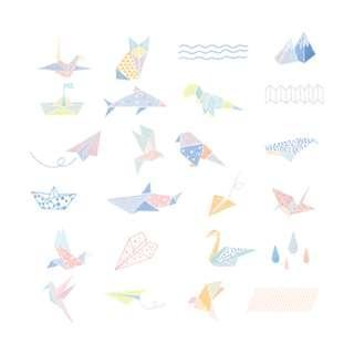🚚 Elegant [Origami Era] Sticker Pack