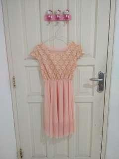 Peach Dress New