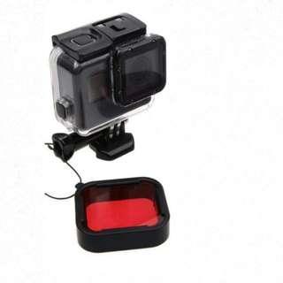 🚚 【現貨】紅色濾鏡+送防丟繩 Gopro7/Gopro6/Gopro5 與原廠尺寸一樣 不用擔心裝不上