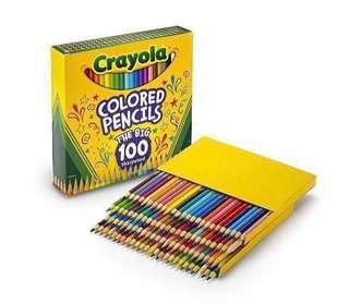 🚚 Brand new Crayola Coloured Pencils 100pcs mega pack