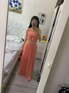bangkok dress peach (xs-s)