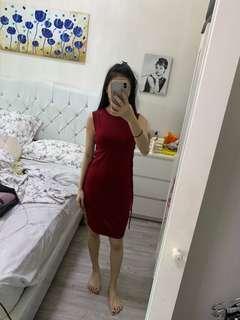 bangkok red dress (xs-M)